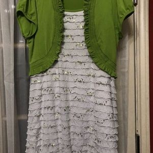 Other - Kids plus size green and yellow dress